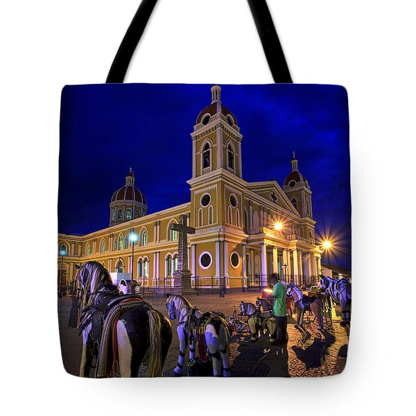 Cathedral Of Granada Shines Brightly Tote Bag