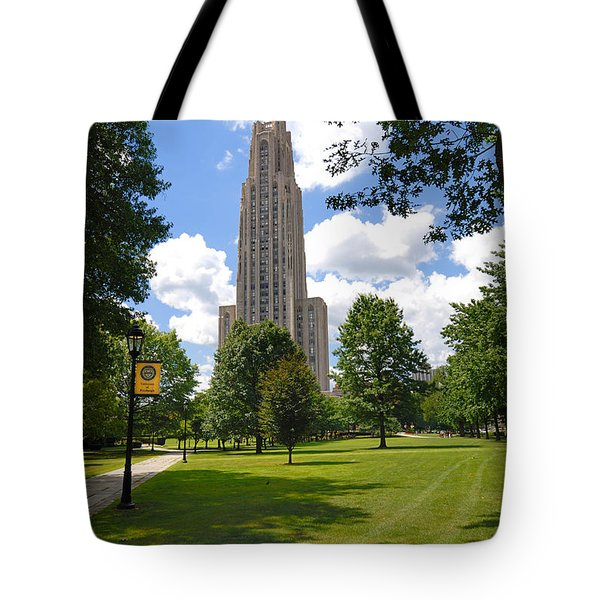 Cathedral Of Learning University Of Pittsburgh Tote Bag
