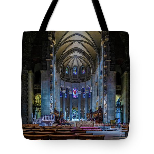 Tote Bag featuring the photograph Cathedral Of Saint John The Divine by Chris Lord