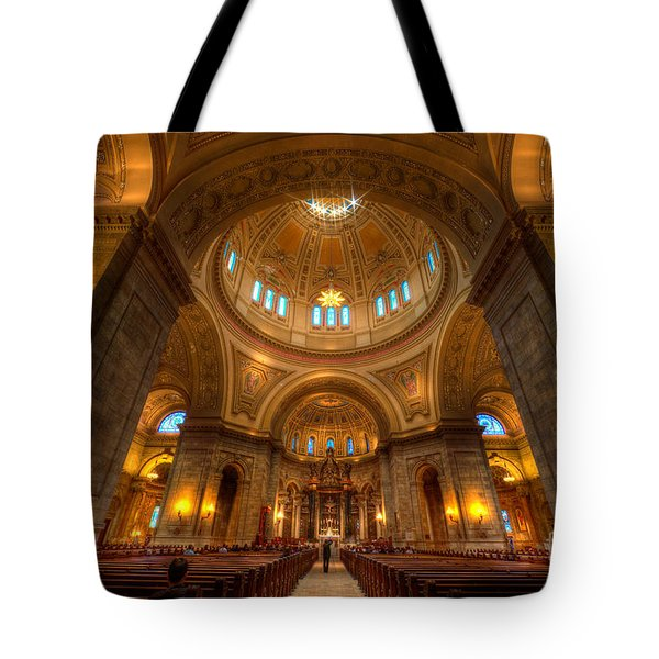 Cathedral Of St Paul Wide Interior St Paul Minnesota Tote Bag
