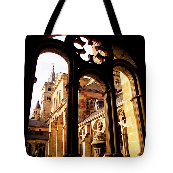 Cathedral Of Trier Window Tote Bag