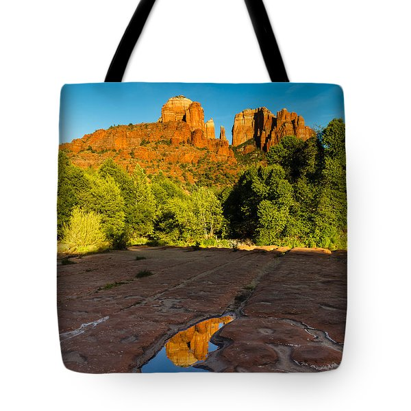 Cathedral Rock And Reflection Tote Bag