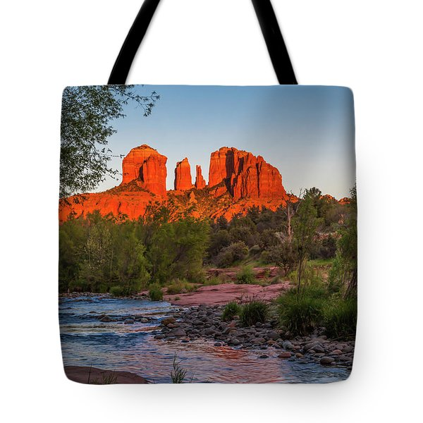 Cathedral Rock At Red Rock Crossing Tote Bag