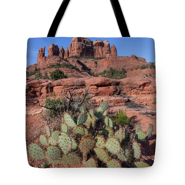 Cathedral Rock Cactus Grove Tote Bag