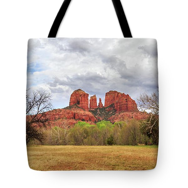 Tote Bag featuring the photograph Cathedral Rock Panorama by James Eddy