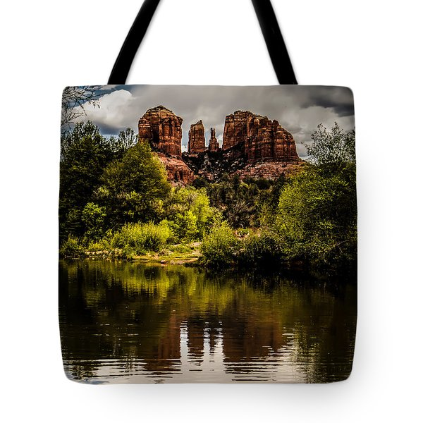 Cathedral Rock Reflections Tote Bag