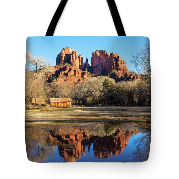 Tote Bag featuring the photograph Cathedral Rock, Sedona by Barbara Manis