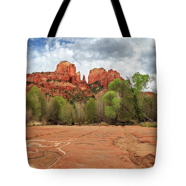 Tote Bag featuring the photograph Cathedral Rock Sedona by James Eddy