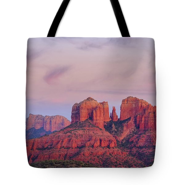 Tote Bag featuring the photograph Cathedral Rock by Patricia Davidson