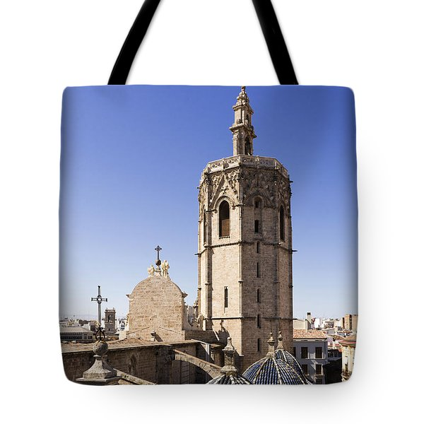 Cathedral Valencia Micalet Tower Tote Bag