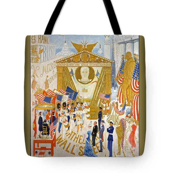 Tote Bag featuring the photograph The Cathedrals Of Wall Street - History Repeats Itself by John Stephens