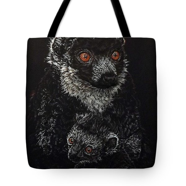 Catherina And Baby Abby Tote Bag by Linda Becker