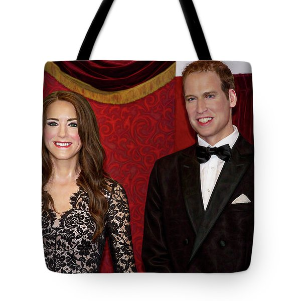 Tote Bag featuring the photograph Catherine And Prince William by Miroslava Jurcik