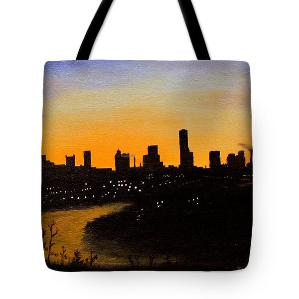 Tote Bag featuring the painting Catherine's Sunrise by Jack Skinner