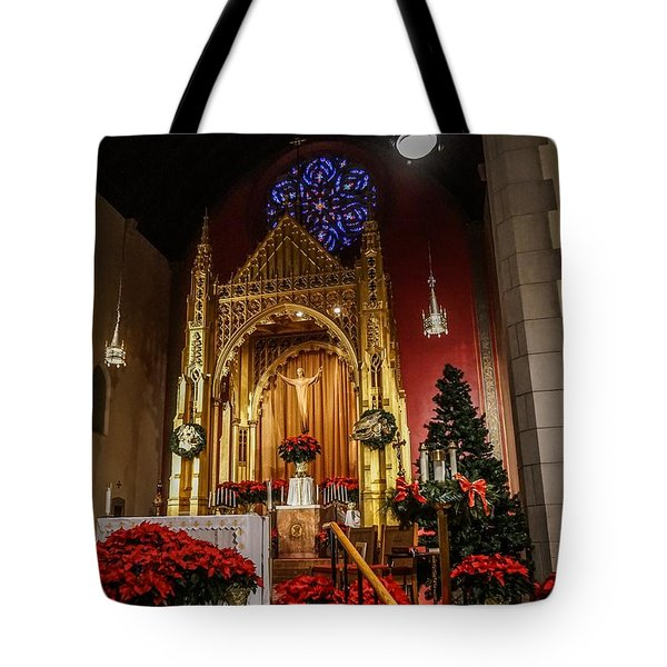 Catholic Christmas Tote Bag
