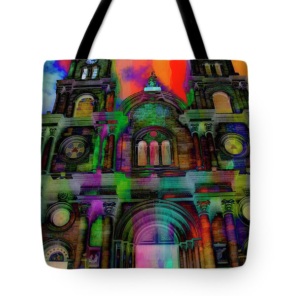 Tote Bag featuring the photograph Catholic Church At Chordeleg, Ecuador by Al Bourassa