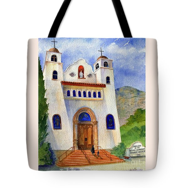 Catholic Church Miami Arizona Tote Bag