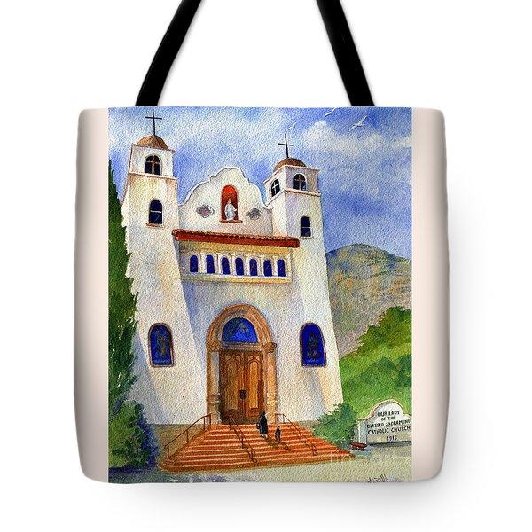 Catholic Church Miami Arizona Tote Bag