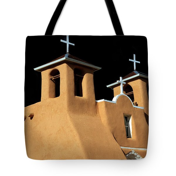Tote Bag featuring the photograph St Francis De Assi Church  New Mexico by Bob Christopher