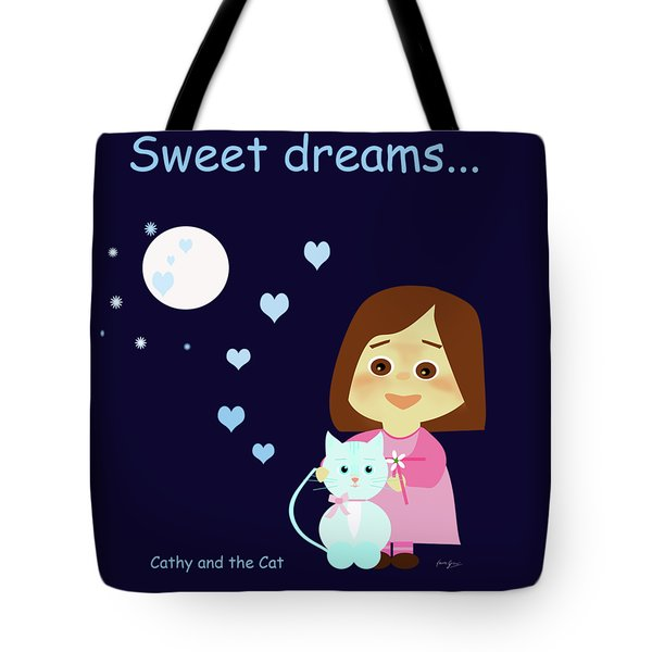 Cathy And The Cat Sweet Dreams Tote Bag