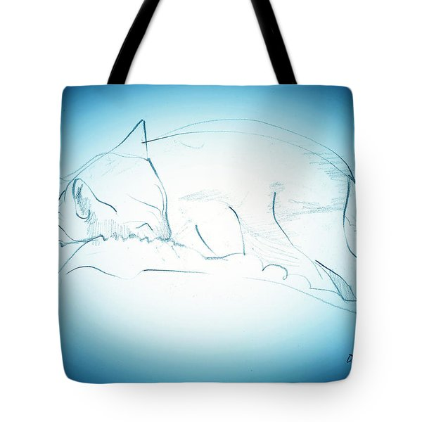 Catnap Tote Bag by Denise Fulmer