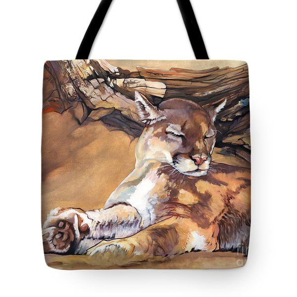 Catnap Tote Bag by J W Baker