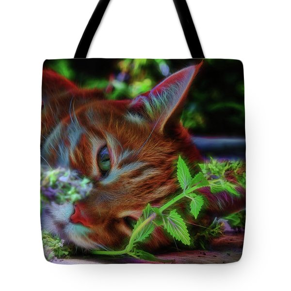 Catnip Chillin Tote Bag