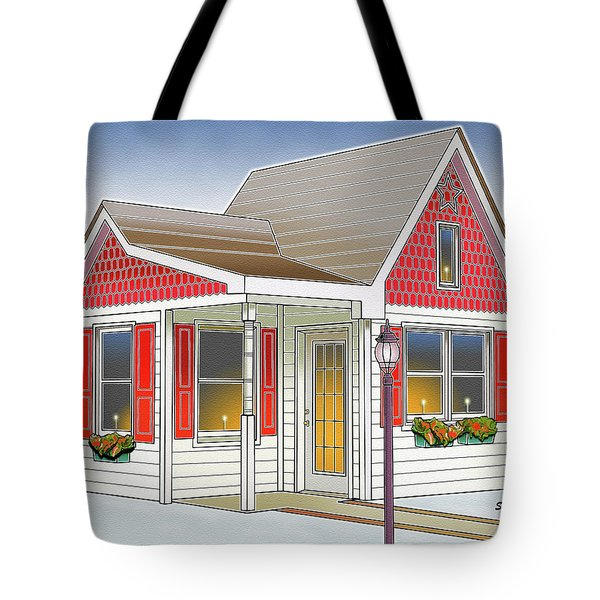 Catonsville Santa House Tote Bag by Stephen Younts