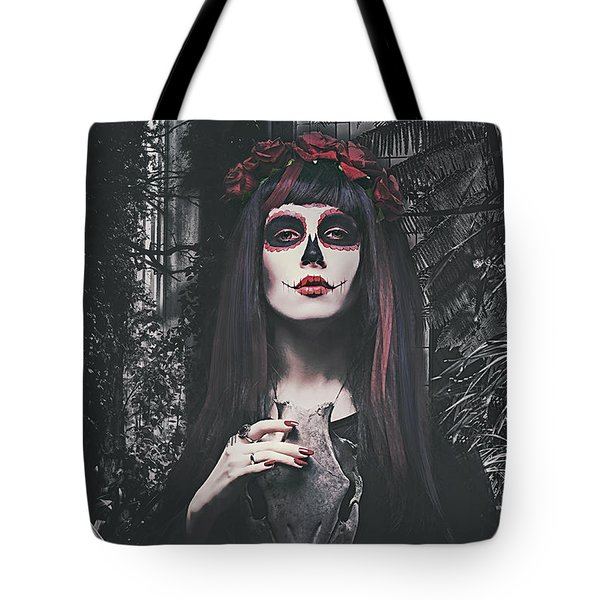 Tote Bag featuring the digital art Catrina Day Of The Dead by Galen Valle
