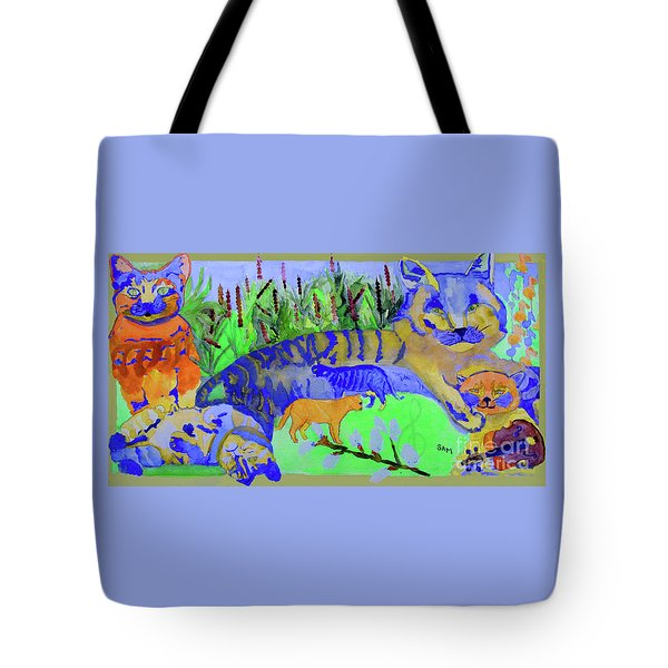 Cats And A Fiddle Tote Bag