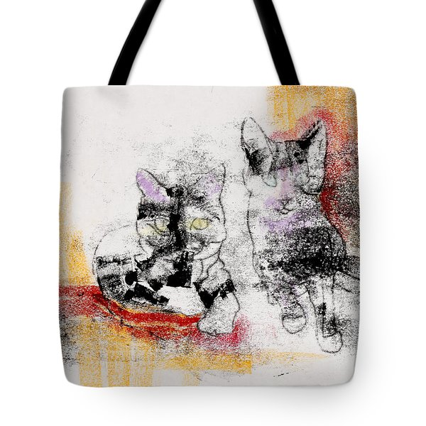 Cats In Color Tote Bag by Julie Maas