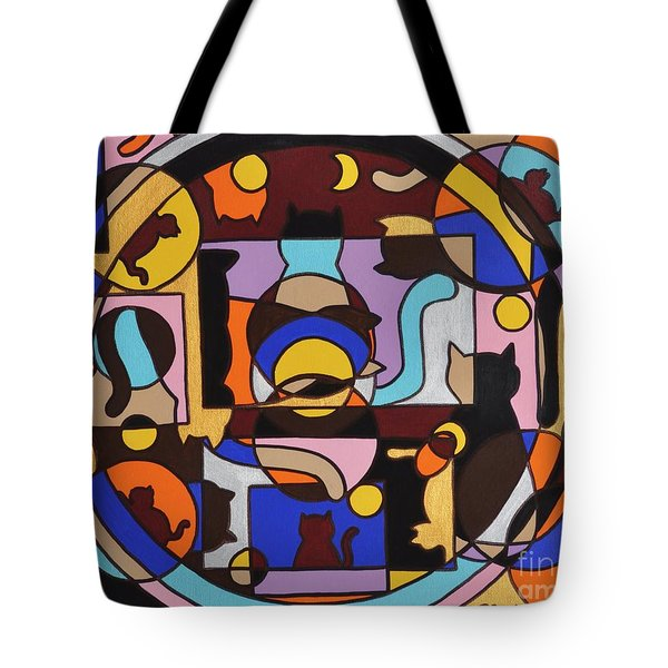 Cats In Focus Tote Bag by Reb Frost