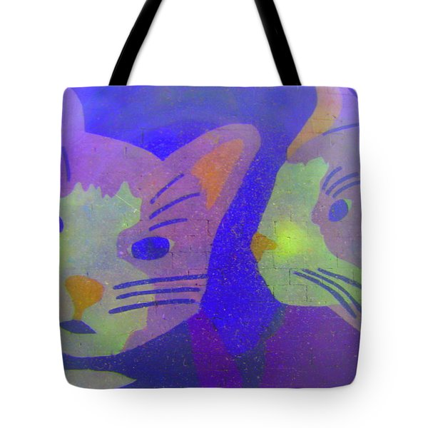 Cats On A Wall Tote Bag