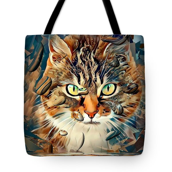 Cats Popart By Nico Bielow Tote Bag by Nico Bielow