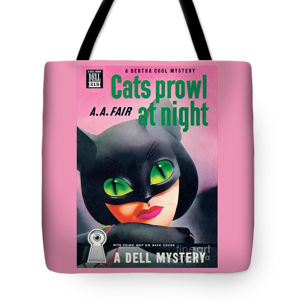 Cats Prowl At Night Tote Bag