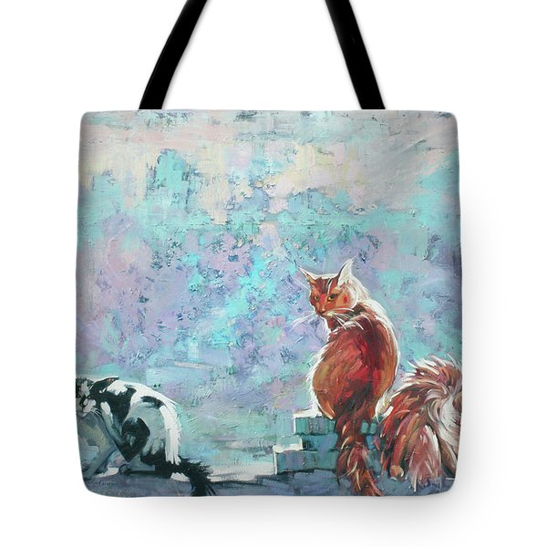 Cats. Washed By Rain Tote Bag