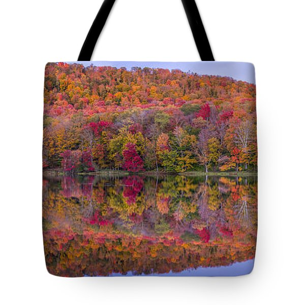 Tote Bag featuring the photograph Catskill Panorama 2 by Mark Papke