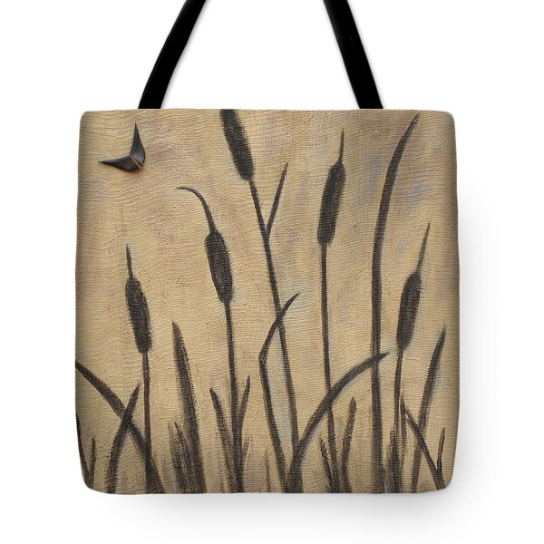 Cattails 2 Tote Bag by Trish Toro