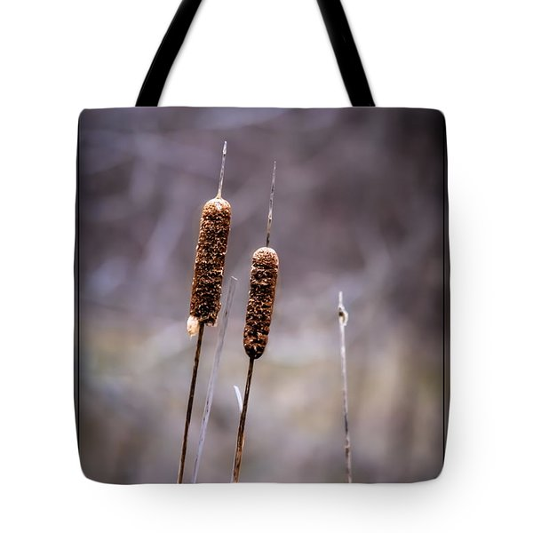 Tote Bag featuring the photograph Cattails by Brenda Bostic