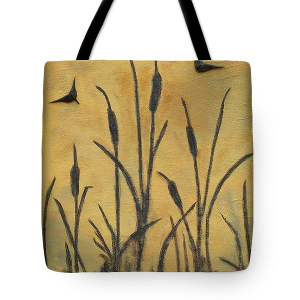 Cattails I Tote Bag by Trish Toro