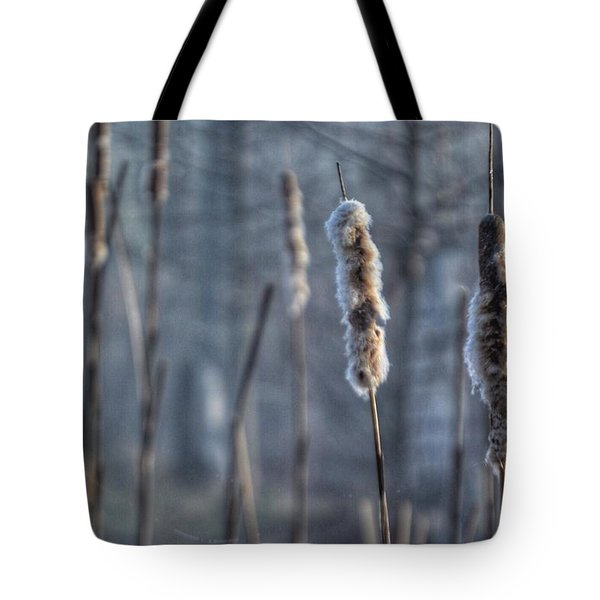 Cattails In The Winter Tote Bag by Sumoflam Photography