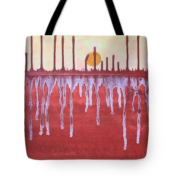 Cattails Original Painting Sold Tote Bag