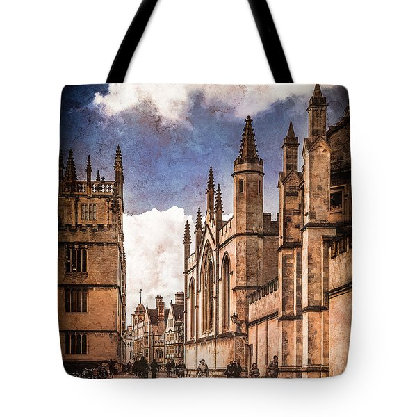 Oxford, England - Catte Street Tote Bag
