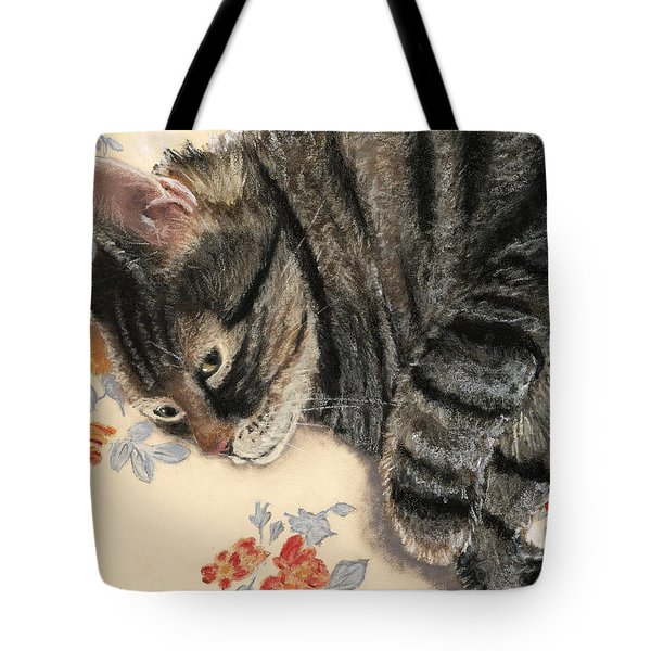 Tote Bag featuring the painting Cattitude by Anastasiya Malakhova