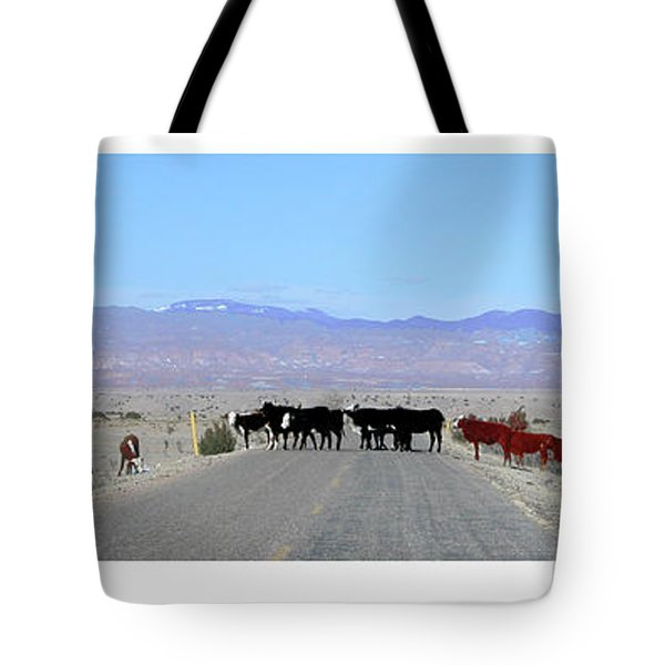 Tote Bag featuring the photograph Cattle Crossing by R Thomas Berner