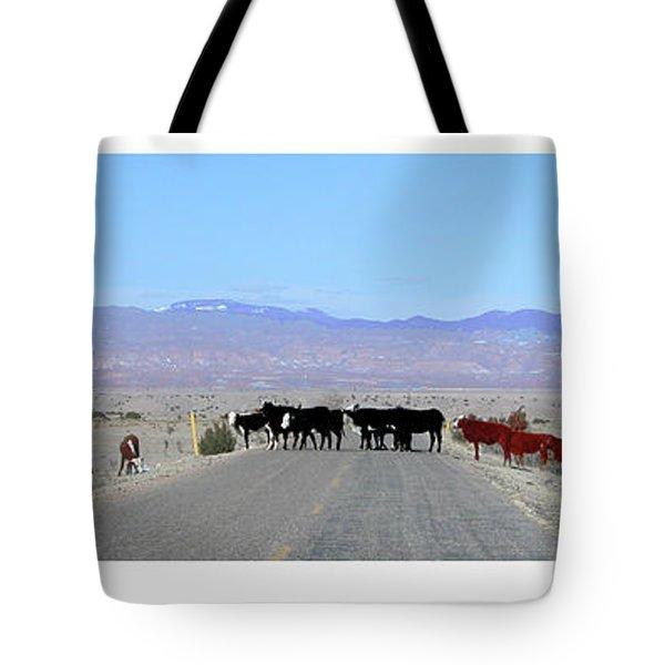 Cattle Crossing Tote Bag by R Thomas Berner