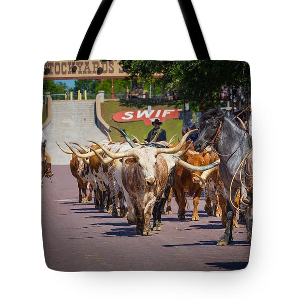Cattle Drive Tote Bag