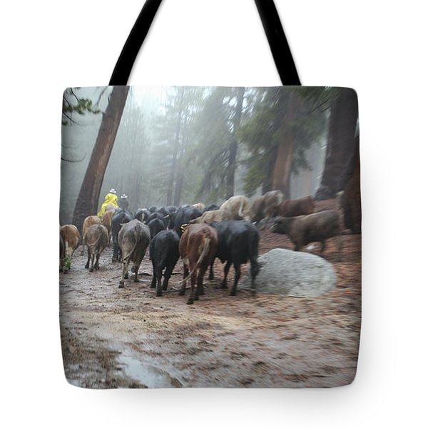 Cattle Moving Tote Bag