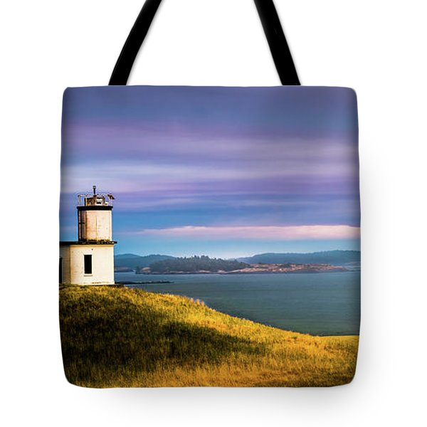 Cattle Point Lighthouse Tote Bag