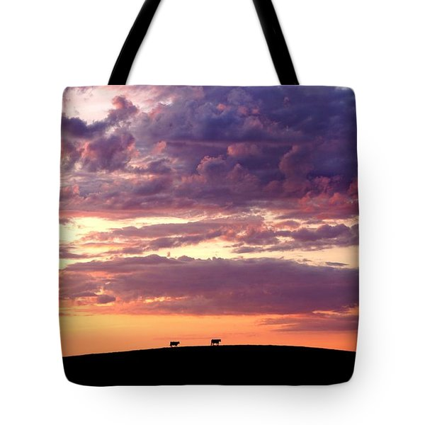 Cattle Ridge Sunset Tote Bag
